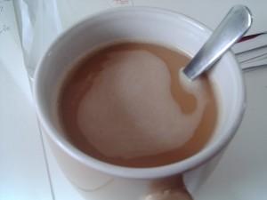 Leckerer Kaffee noch mit Zucker