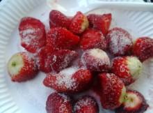 Magerquark mit Erdbeeren